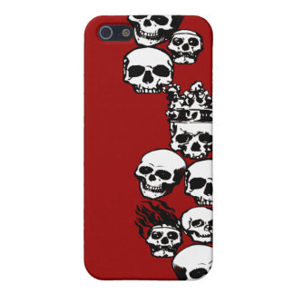 Caja roja del iPhone de los cráneos iPhone 5 Cobertura