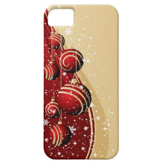 Caja roja del iPhone de los ornamentos del navidad Funda Para iPhone 5 Barely There