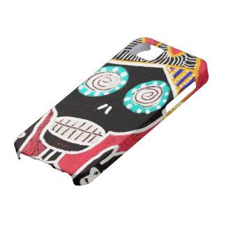 Caja roja del iPhone del ángel del cráneo del azúc iPhone 5 Case-Mate Protectores