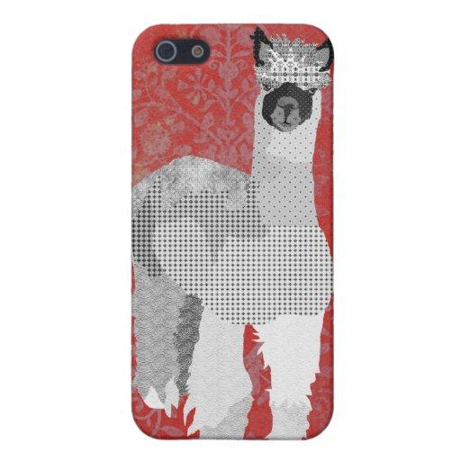 Caja roja del iPhone del arte de la alpaca iPhone 5 Cobertura