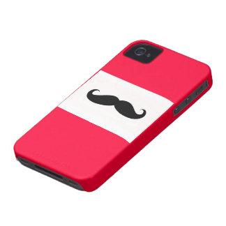 Caja roja del iPhone del bigote Carcasa Para iPhone 4 De Case-Mate