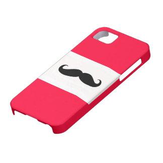Caja roja del iPhone del bigote Funda Para iPhone SE/5/5s