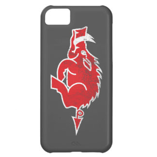 Caja roja del iPhone del cerdo