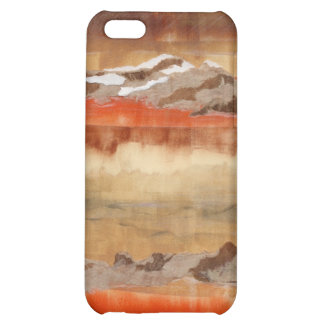 Caja roja del iPhone del cielo de la amapola