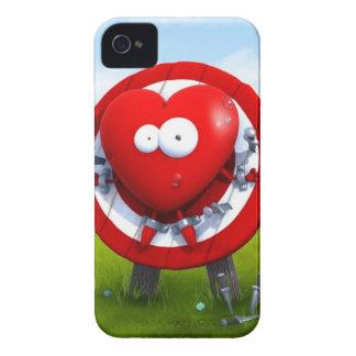 Caja roja del iPhone del corazón Case-Mate iPhone 4 Coberturas