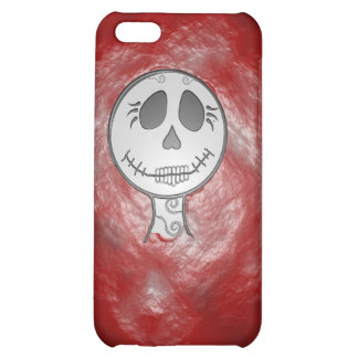 Caja roja del iPhone del cráneo
