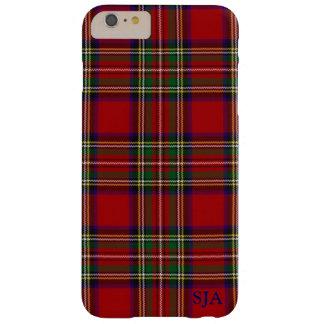 Caja roja del iPhone del diseño de la tela Funda Para iPhone 6 Plus Barely There