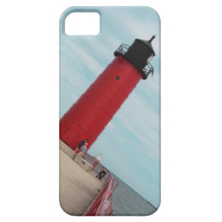 Caja roja del iPhone del faro de Milwaukee Pierhea iPhone 5 Coberturas