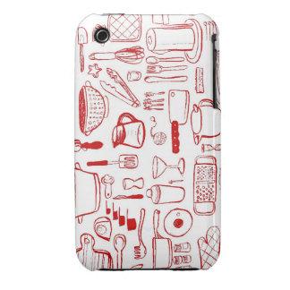 Caja roja del iphone del modelo de los artículos d Case-Mate iPhone 3 cárcasa