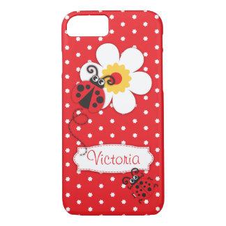 Caja roja del iphone del nombre de los chicas de funda iPhone 7