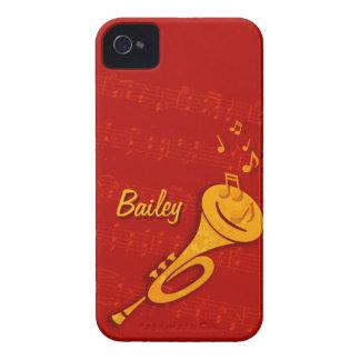 Caja roja del nombre iphone4 de la trompeta de cob Case-Mate iPhone 4 cárcasas