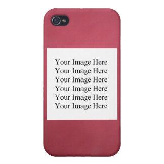 CAJA ROJA DEL PERSONALIZABLE IPHONE DE MOTTELED iPhone 4 PROTECTOR