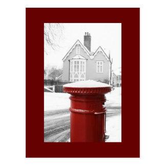 Caja roja del poste postales
