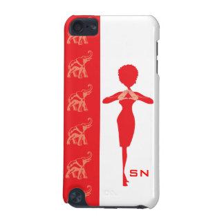Caja roja del tacto de iPod del elefante