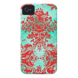 Caja roja del teléfono de la turquesa del vintage Case-Mate iPhone 4 coberturas