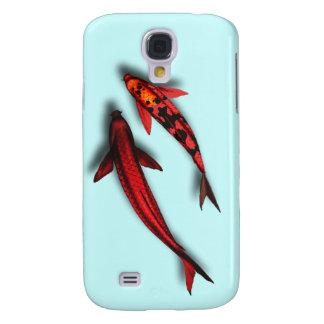 Caja roja del teléfono de los pescados de Koi Funda Para Galaxy S4