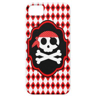 Caja roja del teléfono del gótico del pirata de Ha iPhone 5 Cobertura