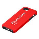Caja roja del teléfono para el iPhone 5 iPhone 5 Case-Mate Carcasa