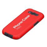 Caja roja del teléfono para la galaxia S III Samsung Galaxy S3 Protectores