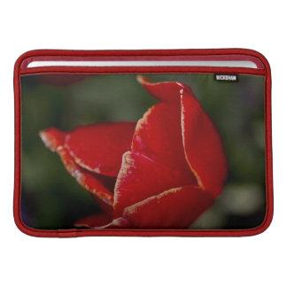 Caja roja del tulipán funda para macbook air
