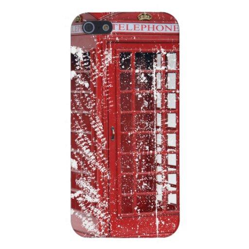 Caja roja descolorada de Iphone 5 de la cabina de  iPhone 5 Cárcasas
