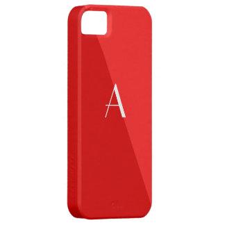 Caja roja doble del iPhone 5 del monograma iPhone 5 Case-Mate Fundas