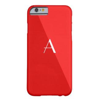 Caja roja doble del iPhone 6 del monograma
