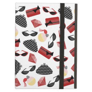 Caja roja femenina del iPad de los accesorios con