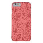 Caja roja floral elegante del iPhone 6