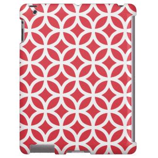 Caja roja geométrica del iPad 2/3/4