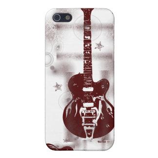 Caja roja gráfica del iPhone de la guitarra iPhone 5 Fundas