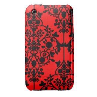 Caja roja grande del iPhone 3/3GS del damasco iPhone 3 Funda