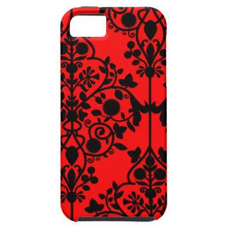 Caja roja grande del iPhone 5 del damasco iPhone 5 Carcasas