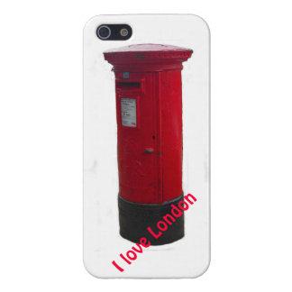 Caja roja icónica del iPhone del buzón - amor Lond iPhone 5 Funda