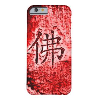 Caja roja interna china del arte del Grunge del Funda Para iPhone 6 Barely There