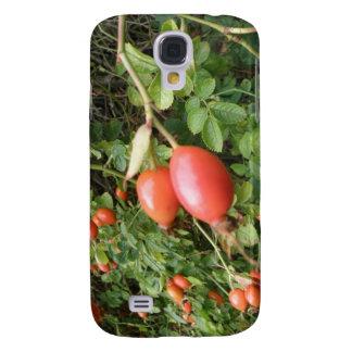 Caja roja jugosa de HTC de los escaramujos Samsung Galaxy S4 Cover