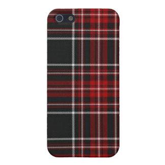 Caja roja llana de la mota del iPhone de la tela e iPhone 5 Fundas