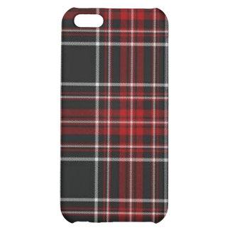 Caja roja llana de la mota del iPhone de la tela e