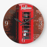 Caja roja Londres Inglaterra Reino Unido del teléf Relojes De Pared