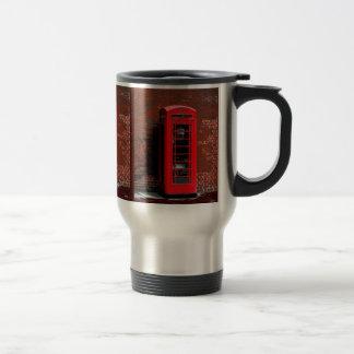 Caja roja Londres Inglaterra Reino Unido del teléf Tazas De Café