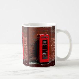 Caja roja Londres Inglaterra Reino Unido del teléf Taza