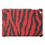 Caja roja/negra del iPad de la raya del tigre