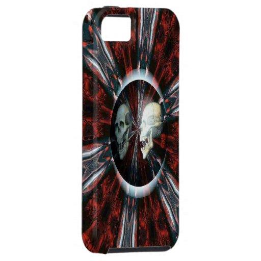 Caja roja sangre de Iphone 5 del cráneo iPhone 5 Carcasa