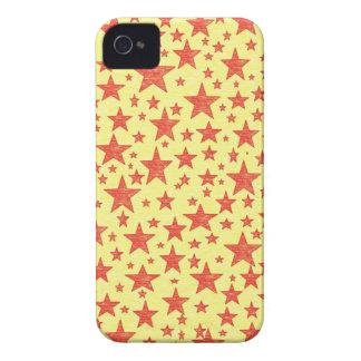 Caja roja tachonada estrella del iPhone 4 iPhone 4 Case-Mate Carcasas