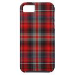 Caja roja y azul del iPhone 5 de la tela escocesa iPhone 5 Case-Mate Cárcasa