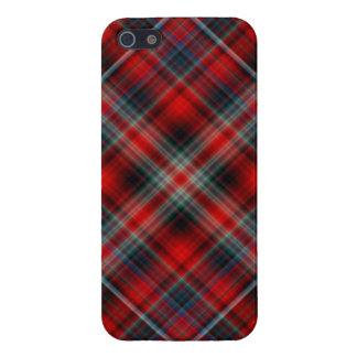 Caja roja y azul del iPhone 5 de la tela escocesa iPhone 5 Carcasas