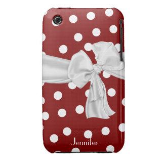 Caja roja y blanca del iPhone 3 del lunar Case-Mate iPhone 3 Coberturas
