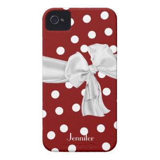 Caja roja y blanca del iPhone 4 del lunar iPhone 4 Coberturas