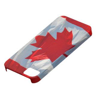 Caja roja y blanca del iPhone 5 de la hoja de arce iPhone 5 Funda