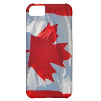 Caja roja y blanca del iPhone 5 de la hoja de arce